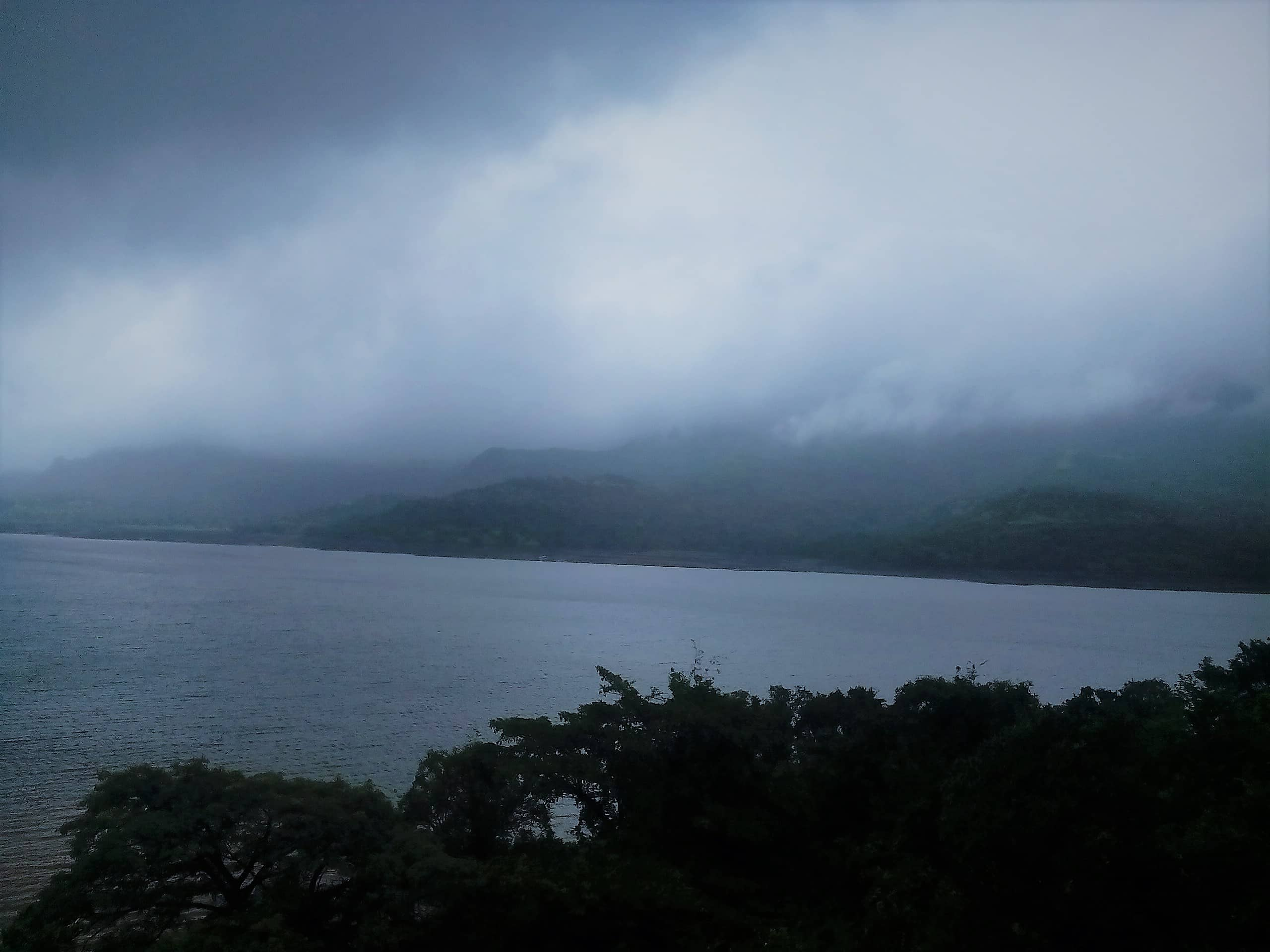 Mulshi Lake on the way to Tamhini Ghat